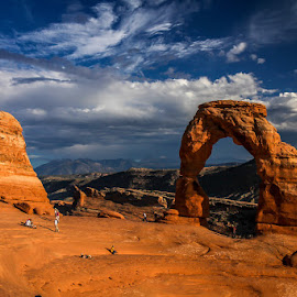 Delicate Arch at sunset by Ruth Sano - Landscapes Travel (  )