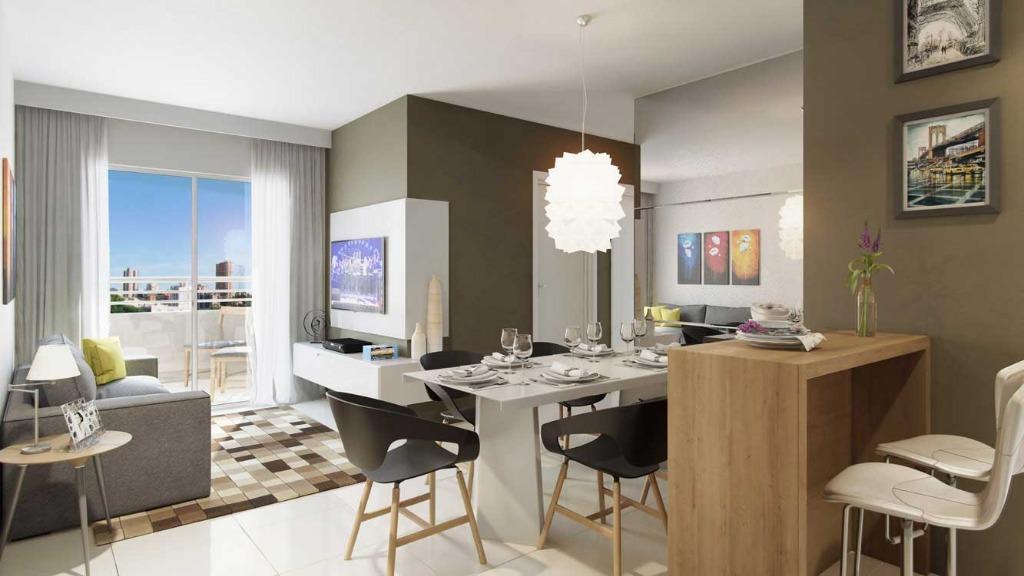 Apartamento à venda em Messejana, 56,65m2, 2 quartos, 1 suíte, lazer completo, em construção. Financia.