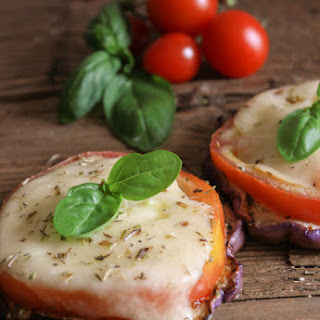 Easy Hot or Cold Grilled Eggplant Caprese