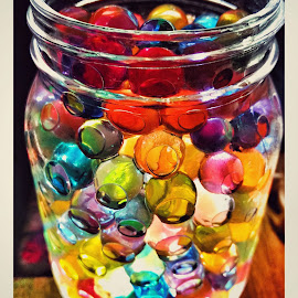 The Color live a remarkable life  by Abhishek Kumar - Abstract Patterns ( water, lights, balls, water_balls, colorful, jar, wonderful )