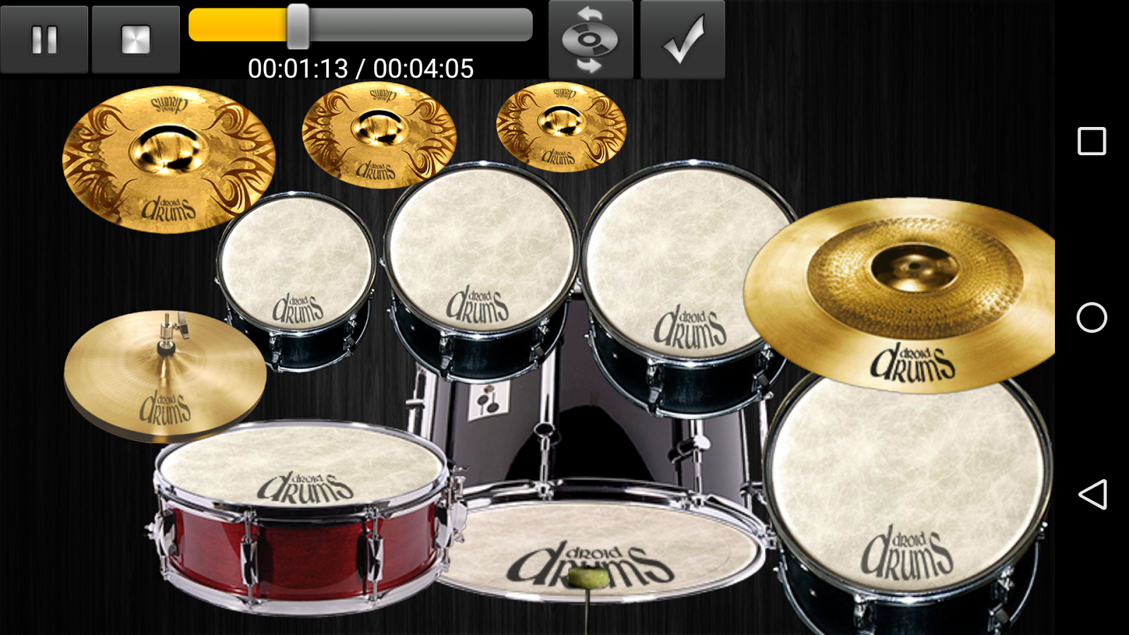 Drums Droid HD 2016 Screenshot 1