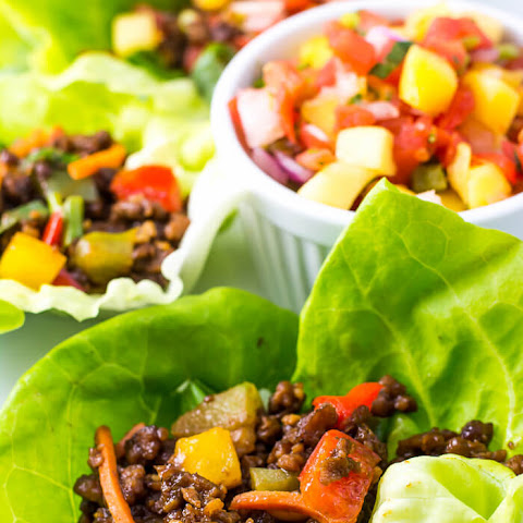 Asian Lettuce Wraps with Mango Habanero Salsa