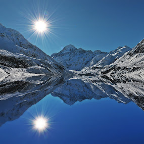 Mount Cook by Jomy Jose - Landscapes Mountains & Hills ( cook, hooker valley track, mt.cook, hooker lake, new zealand )
