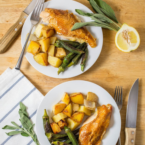 Weeknight Roasted Chicken with Lemon and Sage