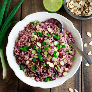 Quinoa with Lime Vinaigrette and Red Cabbage