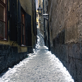 Back Alley by Doreen Rutherford - City,  Street & Park  Street Scenes ( Urban, City, Lifestyle )