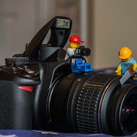 camera story by Kiril Kolev - Artistic Objects Toys ( camera story, macro, indoor, art, minifigures, toys, nikon, objects, close up, lego )