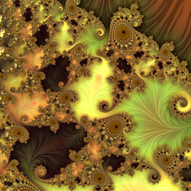 Autumn by Cassy 67 - Illustration Abstract & Patterns ( autumn, swirl, digital art, fractal art, fractal, fractals, digital )