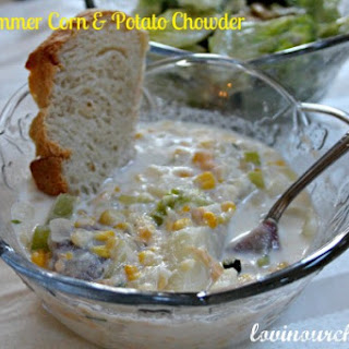 Low-Fat Fresh Summer Corn & Potato Chowder
