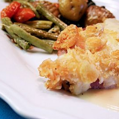 Chicken Cordon Bleu Bake - Mock Chicken Cordon Bleu
