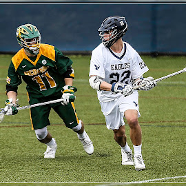 Looking For An Open Man by Elk Baiter - Sports & Fitness Lacrosse ( green terror, umw, university of mary washington, midfielder, eagles, mcdaniel college, lacrosse )