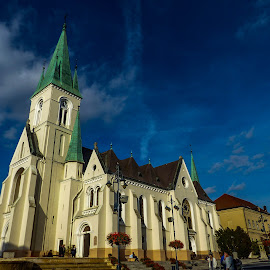 church in Kaposvar in color by Alen Zita - Buildings & Architecture Public & Historical ( hungary, church, colors, kaposvar, historical )
