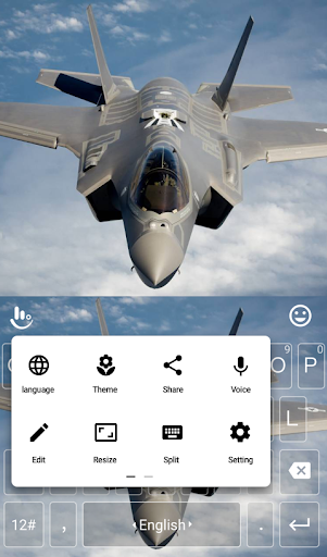 TouchPal Fighter Jet Keyboard - screenshot