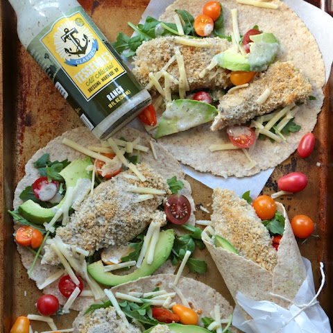 Healthy Baked Ranch Chicken Wraps