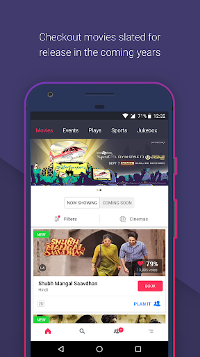 BookMyShow–Movie Tickets,Plays screenshot 1