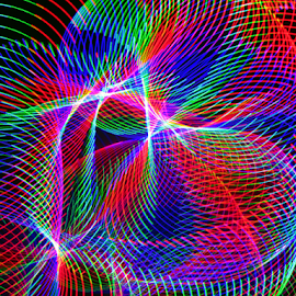 Rainbow tubes by Jim Barton - Abstract Patterns ( laser light, rainbow tubes, colorful, green, laser light show, science, red, blue, light design, laser design, laser, tubes, rainbow, light )