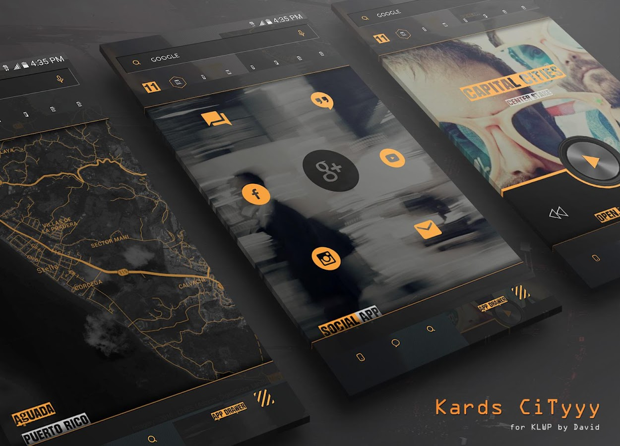 Kards CiTyyy for KLWP Screenshot 1