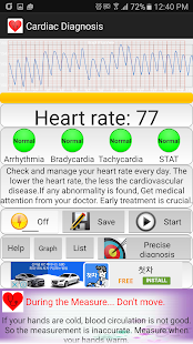 Cardiac Diagnosis screenshot for Android