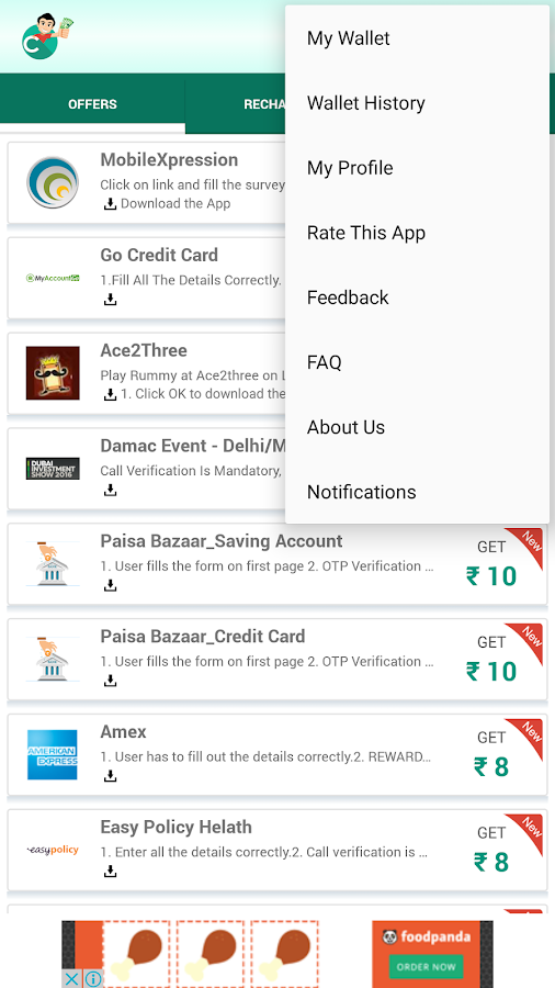 Free Mobile Recharge - CashOn Screenshot 4