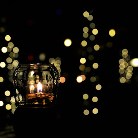 the candle by Novalina Soewandhie - Artistic Objects Other Objects ( candles, dark, night, light )