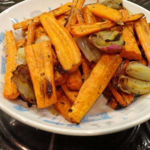Roasted Carrots -- Thanksgiving Favorite