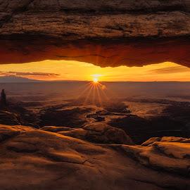 Mesa Arch by Noah Gallagher - Landscapes Sunsets & Sunrises ( moab, utah, national park, sunrise, canyonlands, mesa, arch, landscape )