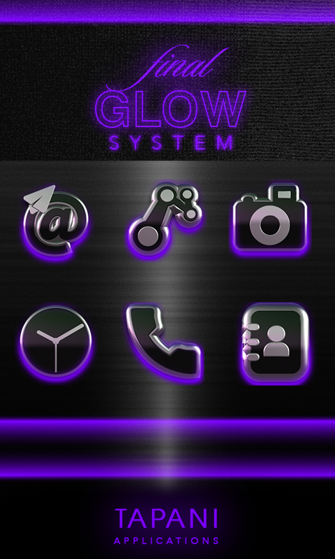 icon pack HD 3D glow purple Screenshot 4