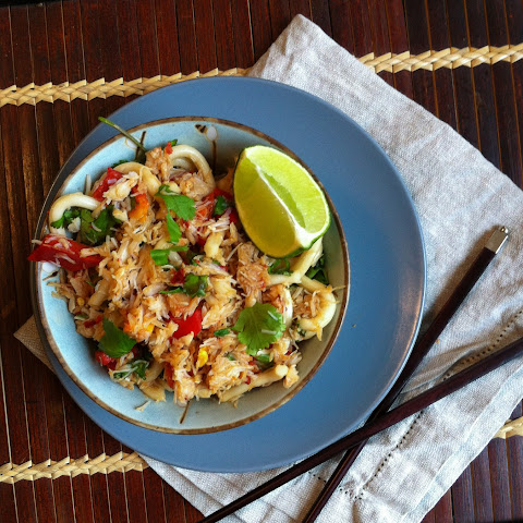 Pan Fried Chilli Crab Udon Noodles