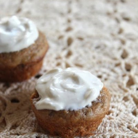 "{Date-Sweetened} Mini Carrot Muffins for Baby (with yogurt ""frosting"")"
