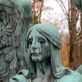 Lakeview Weeping Angel by Marc Kirby - Buildings & Architecture Statues & Monuments ( ohio, weeping angel, cleveland, lakeview cemetery,  )