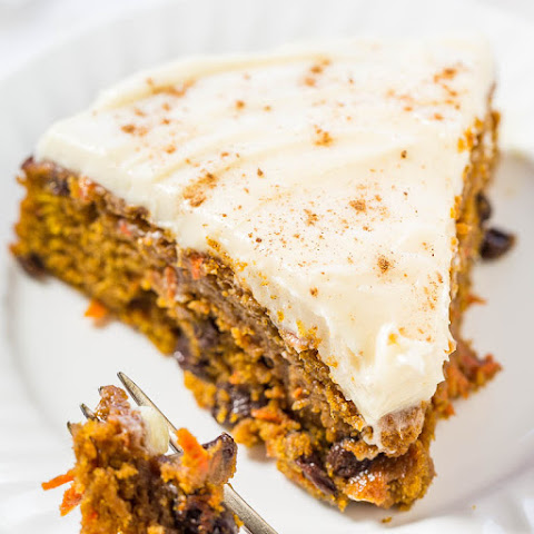 The Best Pumpkin Carrot Cake with Cream Cheese Frosting