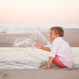 Splashing Water by Marco Vergara - Babies & Children Children Candids