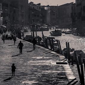 Cannaregio by Rob Menting - People Street & Candids ( canon, europe, black and white, 70d, street, italië, travel, city, canon eos 70d, venezia, eos, italia, venetië, italy )