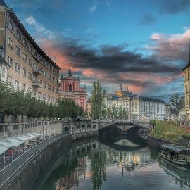 Ljubljana  by Mario Horvat - Instagram & Mobile iPhone ( clouds, sky, slovenia, ljubljana, river )