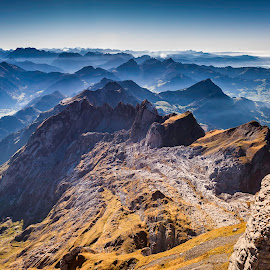 Santis, Switzerland by Nikolas Ananggadipa - Landscapes Mountains & Hills ( swiss, canon, hills, mountain, switzerland )