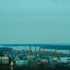 Braila, from high by Bogdan Nitescu - Novices Only Street & Candid ( industrial, romania, view, landscape, braila )