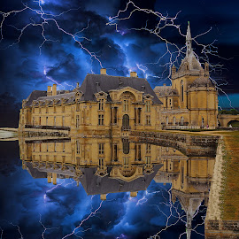 Stormy weather at Chantilly by Gérard CHATENET - Digital Art Places