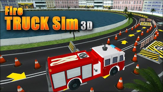 Fire Truck Sim 3D - screenshot