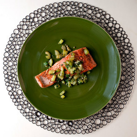 Sautéed Salmon With Brown Butter Cucumbers