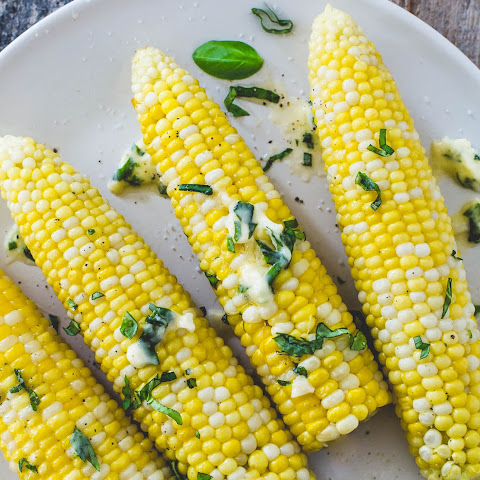 Basil Garlic Butter Sweet Corn