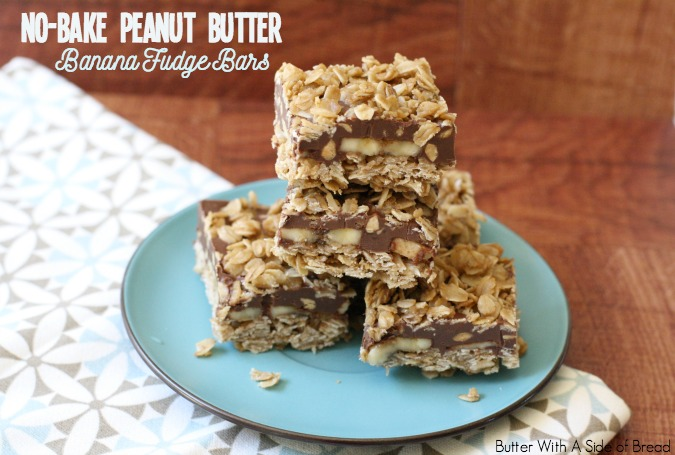 NO-BAKE PEANUT BUTTER BANANA FUDGE BARS Recipe | Yummly