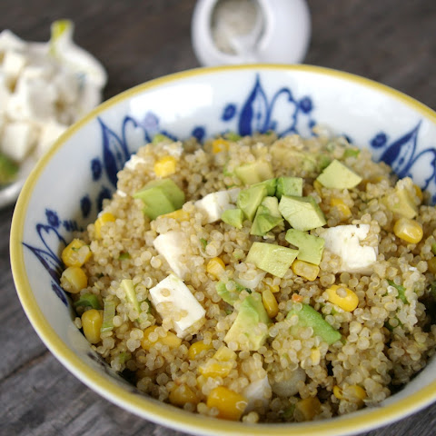 Quinoa Salad with Corn, Avocado and Scallions