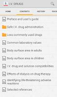 Screenshot of I.V. Drug Handbook