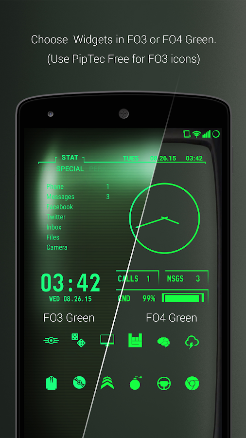 PipTec Pro - Green Icons & Live Wallpaper Screenshot 2