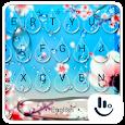 Spring Flower Rain Drops Keyboard Theme