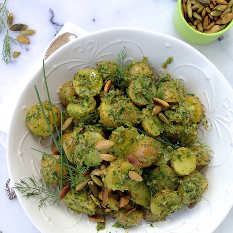 Chive Pesto Potato Salad