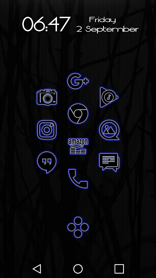 Glowist Bluish - Icon Pack Screenshot 1