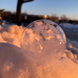 sun beauty by Melissa Poling - Instagram & Mobile iPhone ( no filter, winter, magical, ice, snow, bubbles, sunrise, nature photo )