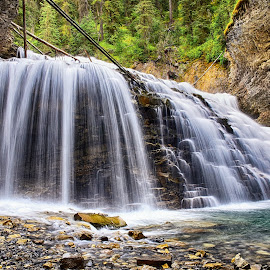 Johnston Canyon Waterfalls by Gosha L - Landscapes Waterscapes