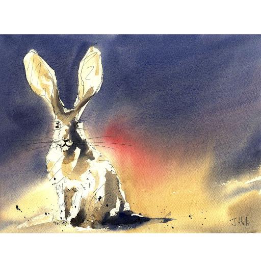 Hare rabbit painting art